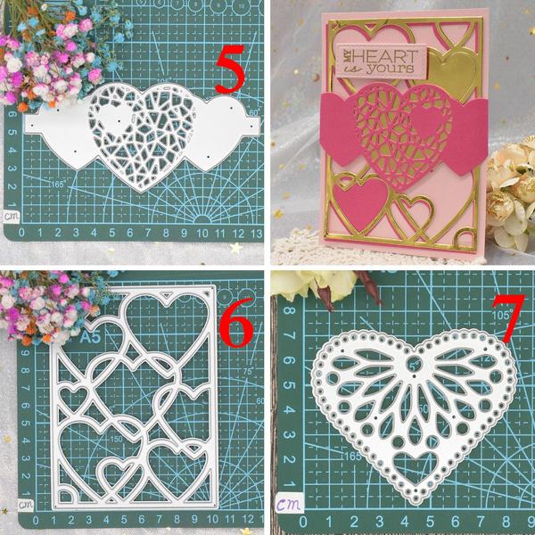 Heart, Flowers, metalcuttingdie, embossingdie