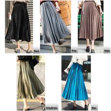 long skirt, velvet, ladiesskirt, goldvelvet