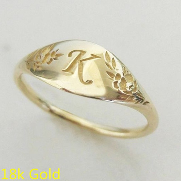 Fashion, letterring, Women Ring, Gifts