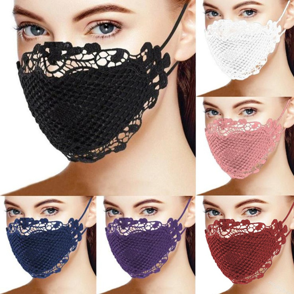 thinlacemask, Lace, faceantidust, Breathable