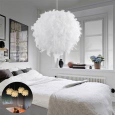 ceilinglamp, featherdroplight, roomlight, Romantic