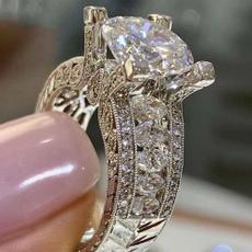 Sterling, DIAMOND, wedding ring, Sterling Silver Ring