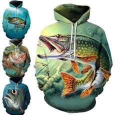 3D hoodies, Fashion, fish, sportsampoutdoor