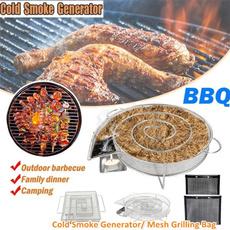 Steel, Outdoor, smokegenerator, coldsmokerbox