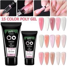 pink, polygel, art, Beauty