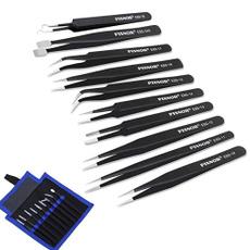 stainless steel tweezer, tweezerset, antistatictweezer, precisiontweezersset