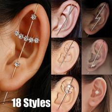 Cubic Zirconia, Jewelry, gold, Stud Earring