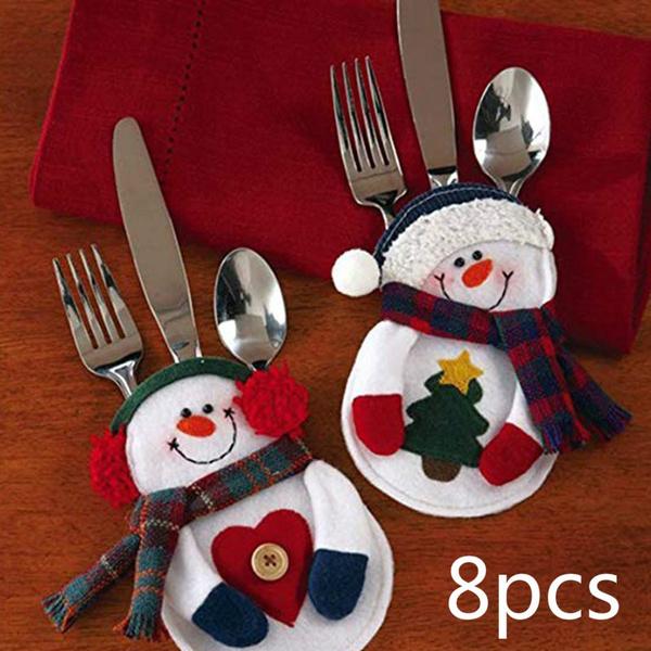 christmastabledecoration, cutlerycover, christmasknifeandforkbag, Christmas