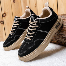 casual shoes, korea, Flats shoes, plusvelvetshoe