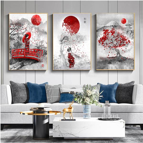 art print, fujimountain, Woman, art