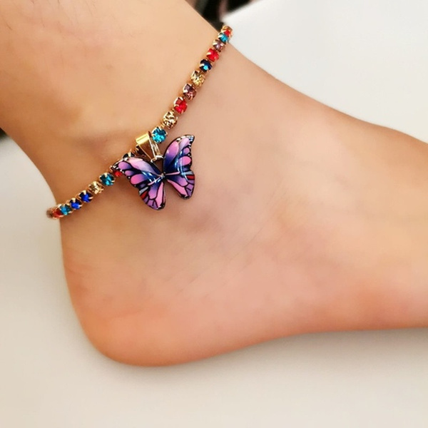 butterfly, Fashion, ankletchain, Chain