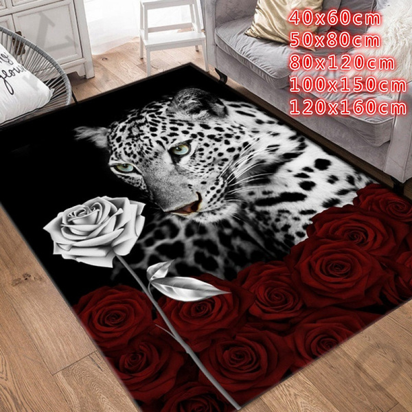 Leopard, Flowers, bedroomcarpet, leopardcarpet
