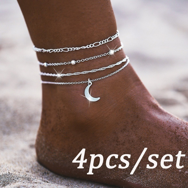 Charm, Anklets, Chain, Simple