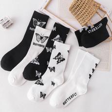 butterfly, wintersock, Cotton Socks, Winter