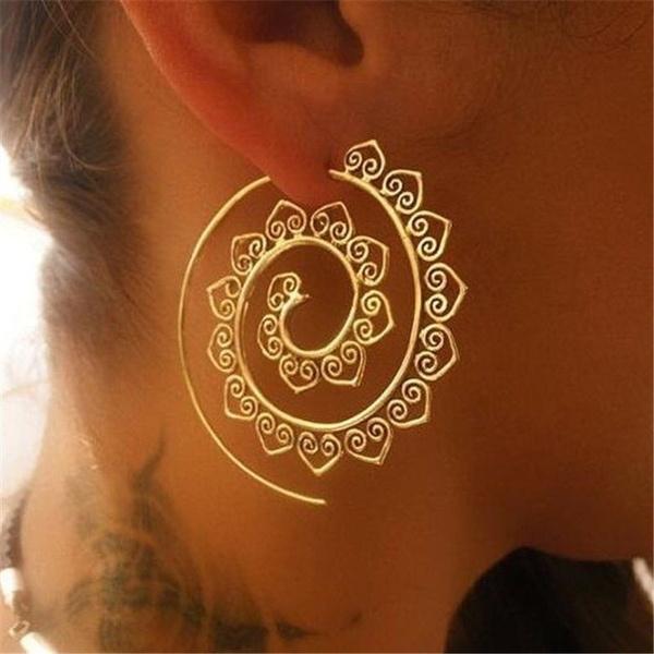 ethnicearring, Hoop Earring, Dangle Earring, spiralearring