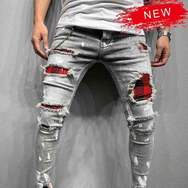 jeansformen, ripped, slim, pants