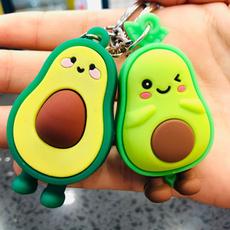 rubberkeychain, greenfruit, avocadokeychain, Jewelry