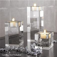 glasscandleholder, crystalcandleholder, Romantic, tealightholder
