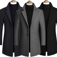 Fleece, trenchcoatformen, manteauhomme, Coat