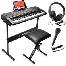 Microphone, electronicpianokeyboard, Stickers, Stool