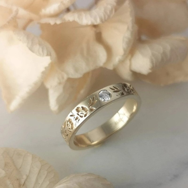 Girlfriend Gift, Fashion, wedding ring, gold