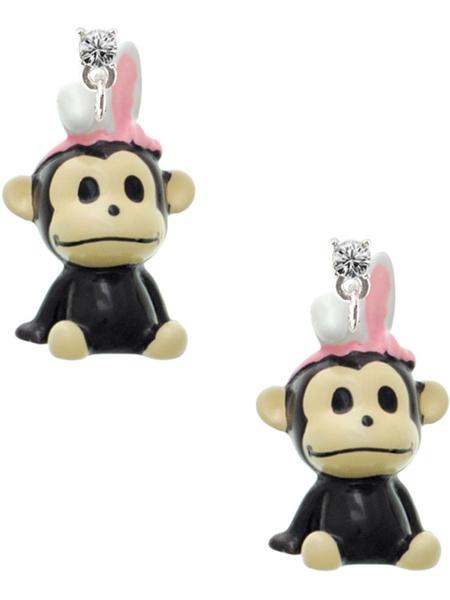 monkey, Earring, Crystal, jewelry gift