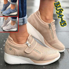casual shoes, wedge, Sneakers, Plus Size