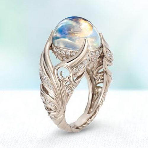 Sterling, DIAMOND, wedding ring, Angel
