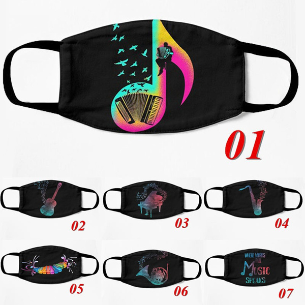 Fashion, mouthmask, Music, Breathable