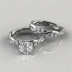 engagementringset, princessringset, DIAMOND, Jewelry