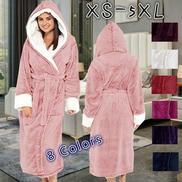 warmnightgown, Winter, loosebathrobe, Indoor