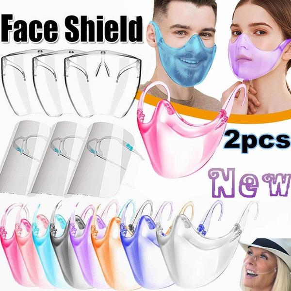 gafasdemujer, transparentmask, vaso, faceshield