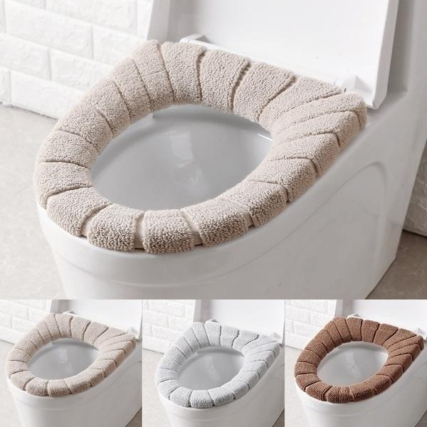 Bathroom, Winter, santatoiletseatcoverset, Home & Living