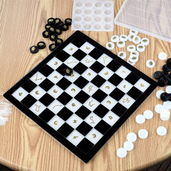 chessmold, jewelrymakingtool, resineepoxy, Chess