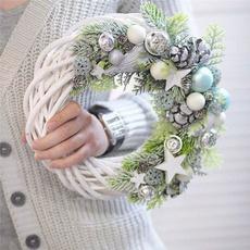 Christmas, Garland, wreath, rattanring