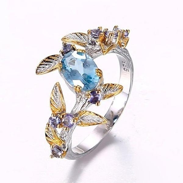 Sterling, Blues, DIAMOND, 925 sterling silver