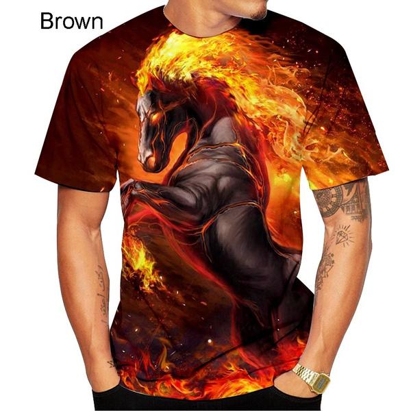 horse, Fashion, topsfunny, horseprint3dtshirt