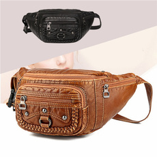 Waist, PU Leather, Belt Bag, Pouch
