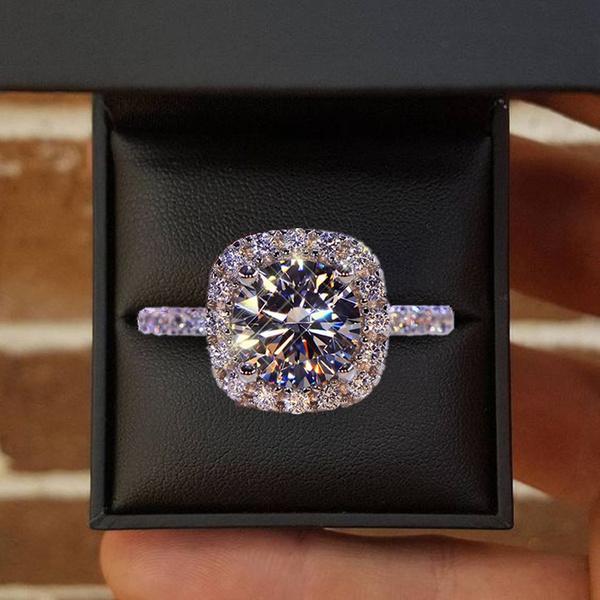 White Gold, Sterling, weddingengagementring, DIAMOND
