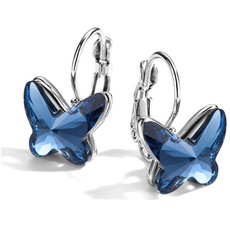butterfly, Sterling, Hoop Earring, butterfly earrings