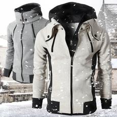 men coat, hooded, velvet, Winter