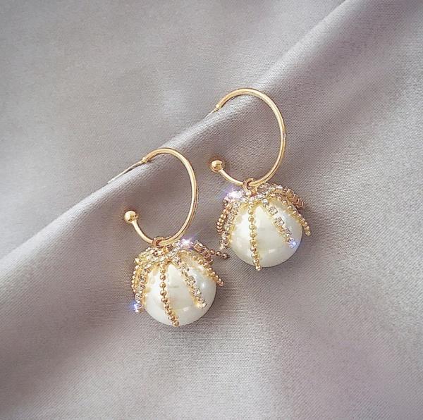 anniversaryearring, Hoop Earring, Jewelry, vintage earrings