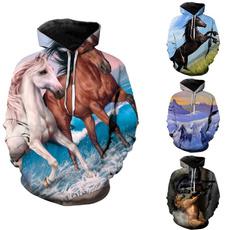 horsehoodie, Couple Hoodies, horse, Fashion