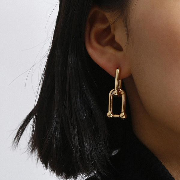 Fashion, simpleearring, gold, Simple