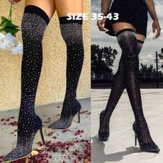 Fashion, Boots, pointedshoe, sockboot