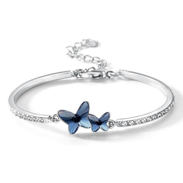 butterfly, Sterling, Fashion, butterflybracelet