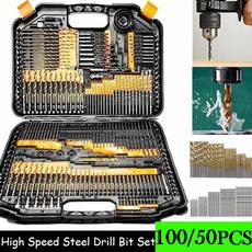 hssdrillbitset, metalworkingdrill, handdrill, Tool