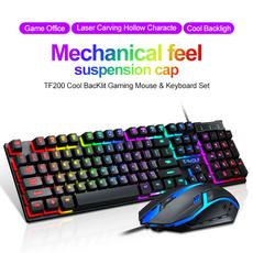 Keys, rainbow, Laptop, led