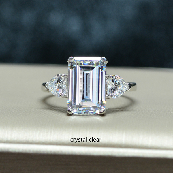 squarediamondring, pink, Engagement Wedding Ring Set, wedding ring
