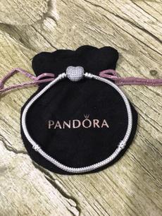 Charm Bracelet, Heart, pandora bracelet, 925 sterling silver